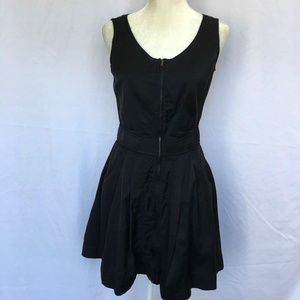 Diesel Full Zip Fit and Flare Black Dress Size M